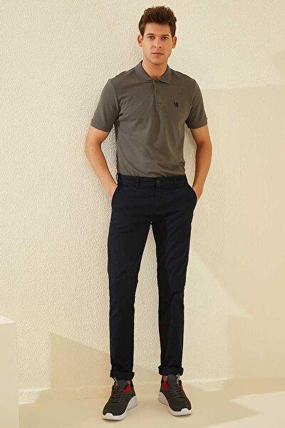 Klasik Polo Yaka Koyu Gri Erkek Tshirt T08ER-87768
