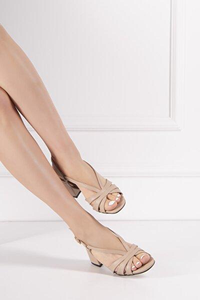Kadın Deri Sandalet Ten Elit 101715