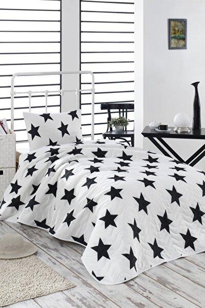 Tek Kişilik Kapitone Yatak Örtüsü Seti B&W BigStar