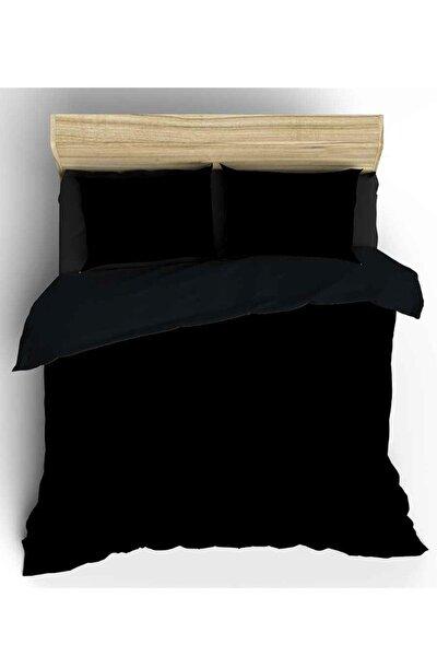 Siyah 240x220 Battal Boy Nevresim ve Yastık Kılıfı