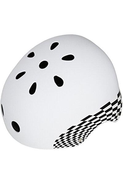 Beyaz Bisiklet-Paten Kaskı - 32618