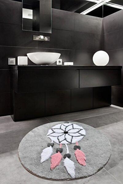 Rüya Gri Çap  Banyo Halısı, Paspas