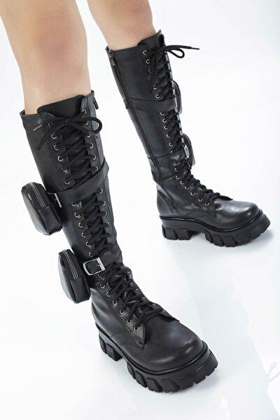 Kadın Siyah Uzun Çizme