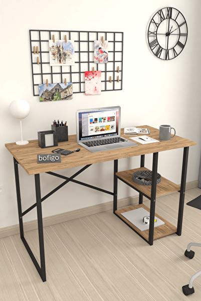 60x120 Cm 2 Raflı Çalışma Masası Bilgisayar Masası Ofis Ders Yemek Masası Çam