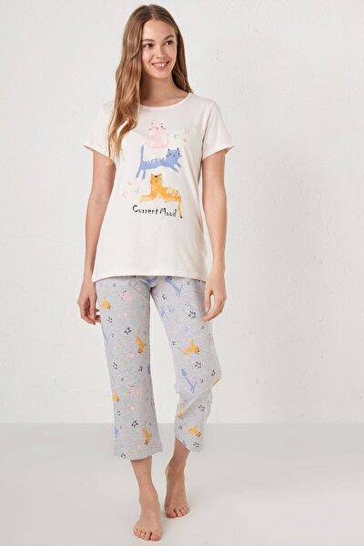 Kadın Uçuk Pembe LCW DREAM Pijama Takım