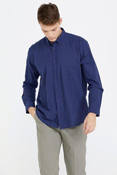 Erkek Uzun Kollu Gömlek - Lacivert