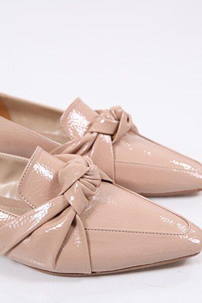 Kadın Sivri Burunlu Büzgülü Loafer Ayakkabı