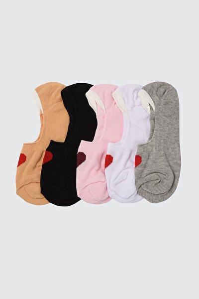 Gül Kurusu 5'li Paket Örme Çorap TWOSS21CO0021