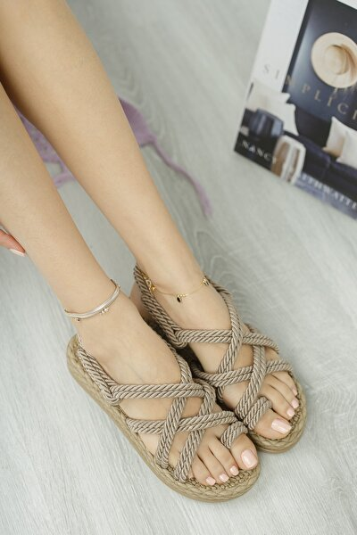 Rymw614 Kadın Hasır Sandalet