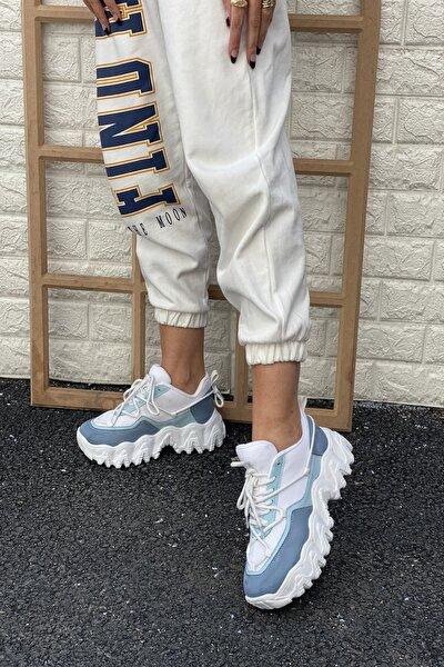 Kadın Mavi Sneaker