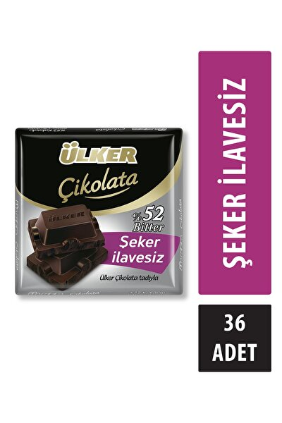 Şeker Ilavesiz Bitter Çikolata 60g X36 Adet
