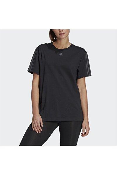 Kadın Essentials Boyfriend Cut 3-stripes Tişört
