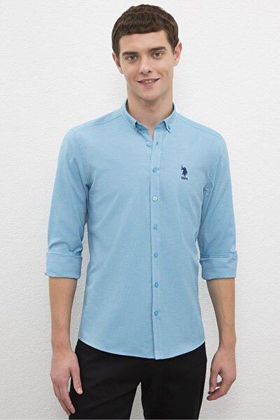 Erkek Mavı Gömlek G081Gl004.000.1208586