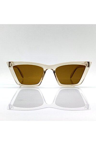 Kadın Kahverengi Cateye Güneş Gözlüğü