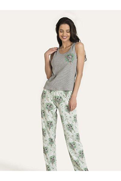 Kadın Gri Koala Pijama Takımı 67158