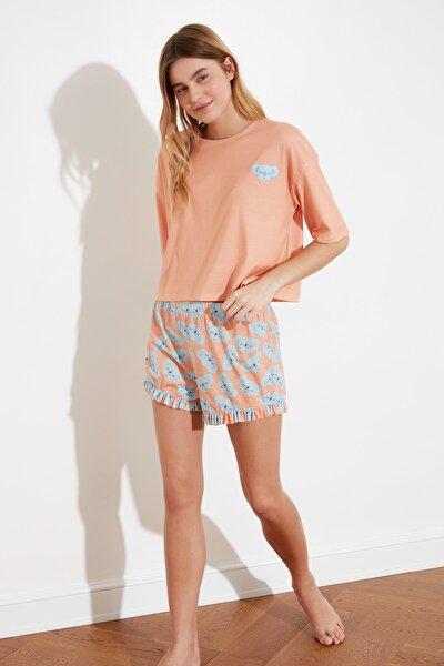 Yavruağzı Baskılı Örme Pijama Takımı THMSS21PT0381