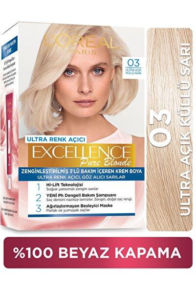 Excellence Creme Saç Boyası - 03 Ultra Açık Küllü Sarı