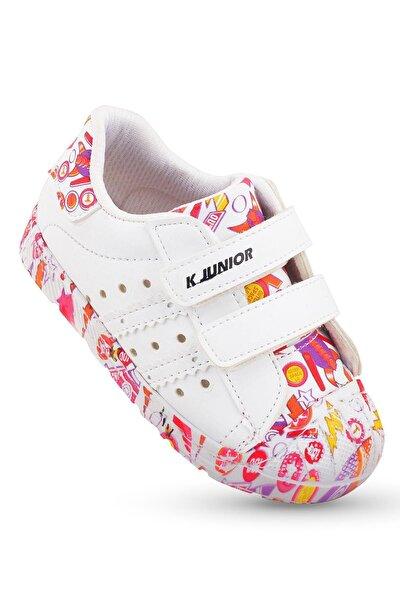Kız Bebek Beyaz İlkadım Ortopedik Spor Ayakkabı