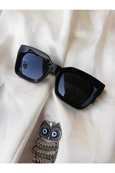 Kare Kadın Siyah Güneş Gözlüğü