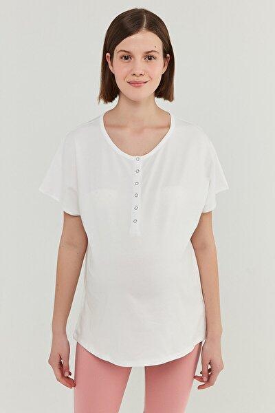 Kadın Beyaz Hamile T-Shirt