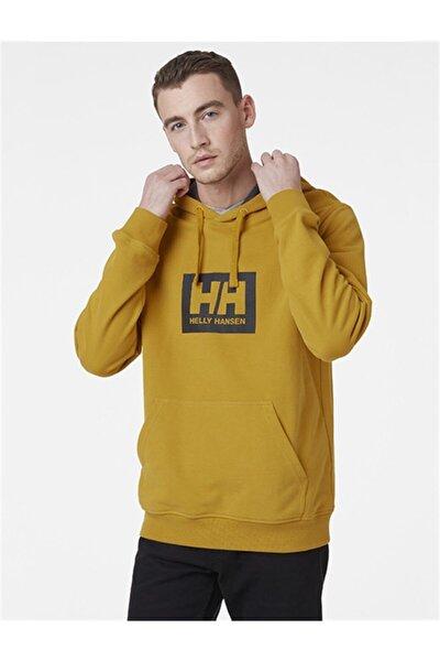 Erkek Sarı Kapüşonlu Sweatshirt