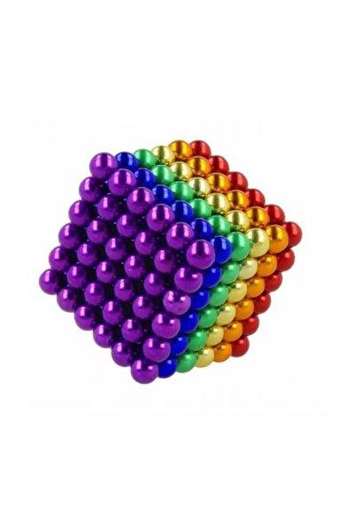 6 Renkli 5mm 216 Adet Neocube Neodyum Mıknatıs Küp Sihirli Manyetik Toplar