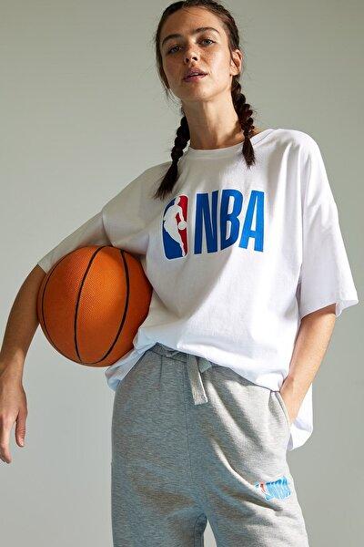 Kadın NBA Lisanslı Oversize Tişört T5506AZ21SP