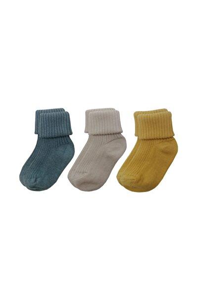Kıvrık Bebek Çorabı Yagoc1 3'lü