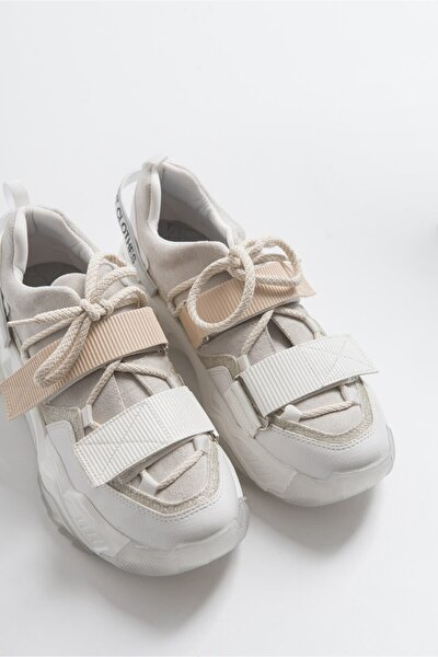 Beyaz Rugan Spor Ayakkabı 65140
