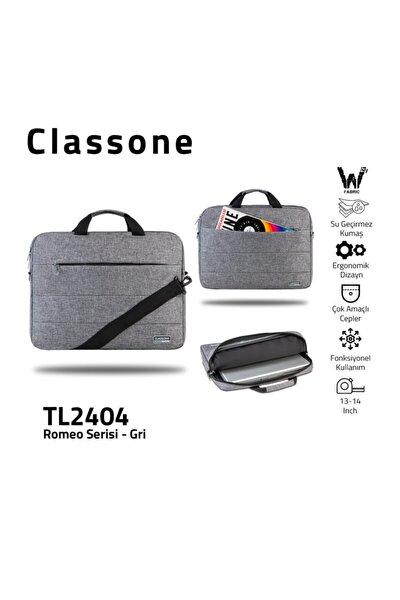 Romeo Serisi Tl2404 13-14 Inch Uyumlu Su Geçirmez Kumaş, Laptop, Notebook El Çantası- Gri
