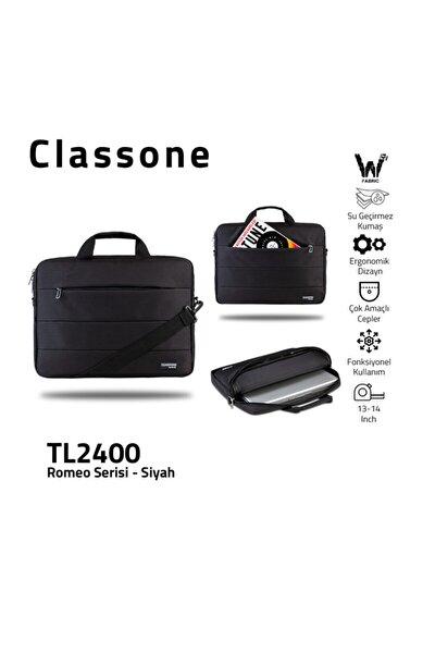 Romeo Serisi Tl2400 1 3-14 Inch Uyumlu Su Geçirmez Kumaş, Laptop, Notebook El Çantası- Siyah