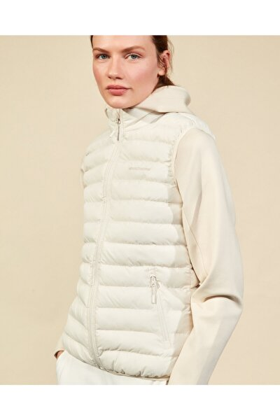 Outerwear W Basic Lightweight Vest Kadın Bej Yelek S202109-614