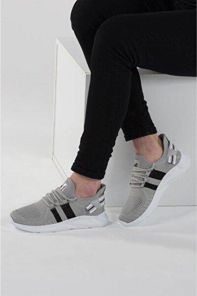 136 Buz Beyaz Delikli Yazlık Erkek Spor Ayakkabı