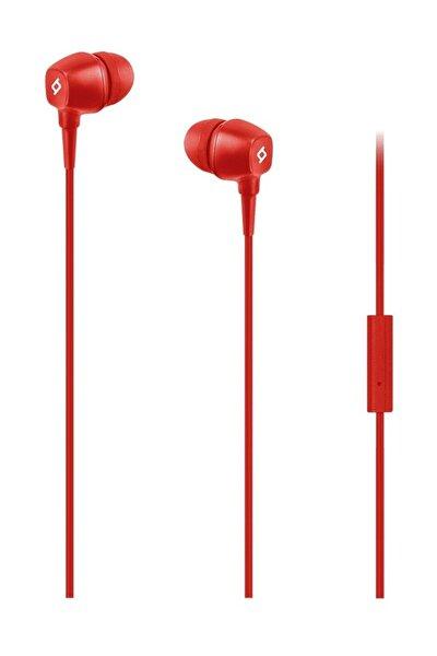 Kırmızı Pop Mikrofonlu Kulakiçi Kulaklık 3.5mm