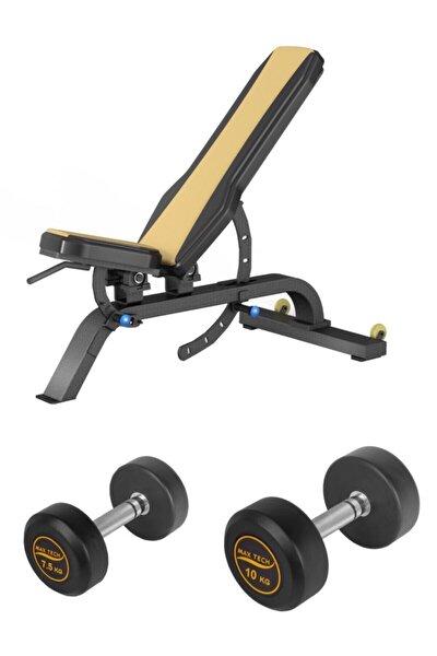 Max Tech Ayarlanabilir Ağırlık Sehpası-bench Ve 7,5-10 Kg Pvc Dambıl Set