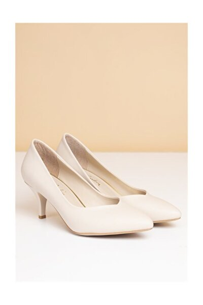 PC-50179 Bej Kadın Ayakkabı