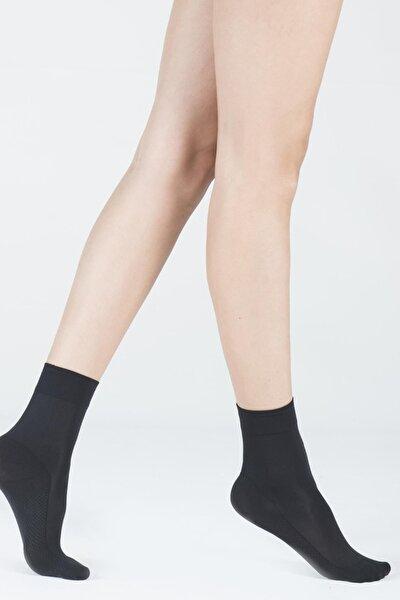 Kadın Siyah Cini Basic Soket Çorap