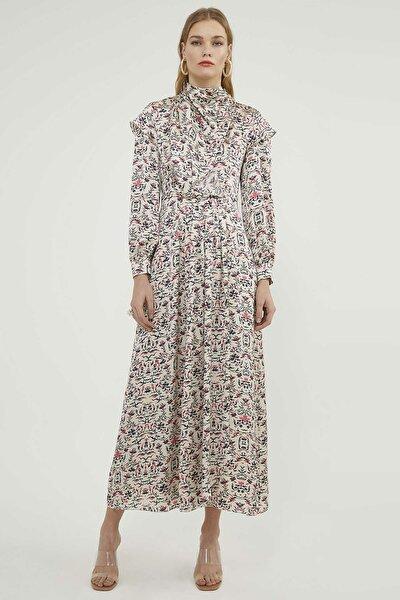 Kadın Çiçek Desenli Elbise 20Y042820166-001