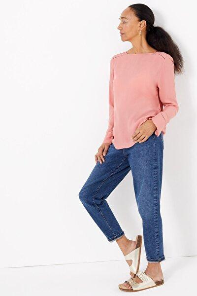Kadın Pembe Uzun Kollu Bluz T43004271