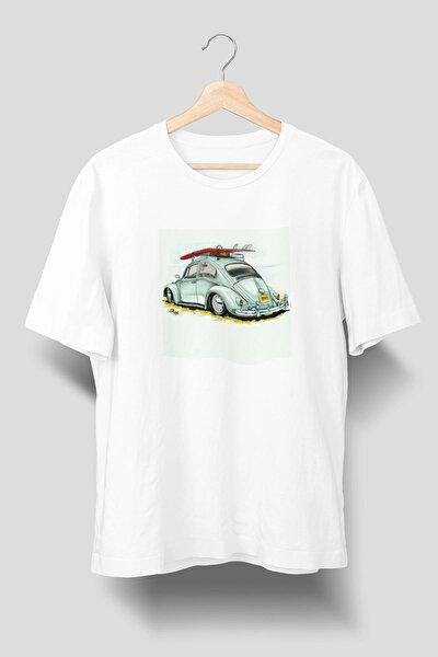 Vosvos Beetle Baskılı Beyaz Tişört