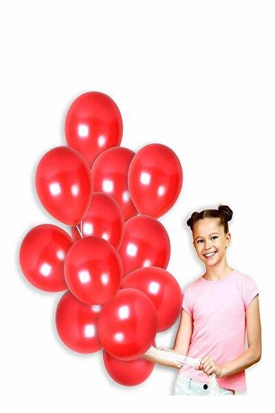Kırmızı Renk Metalik Balon 50 Adet ( 50'Li Paket)