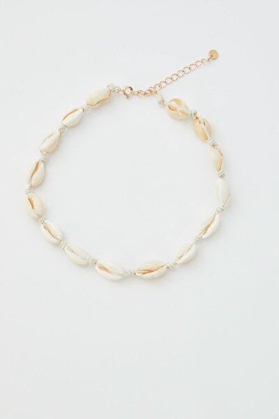 Kadın Altın Rengi Deniz Kabuklu Choker Kolye 05990396