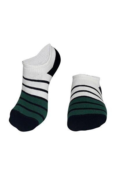 Yeşil Siyah Çizgili Erkek Patik Çorap
