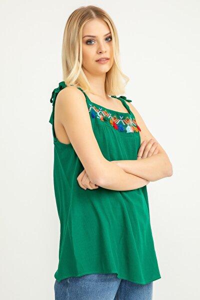 Kadın Yeşil Bluz 18Y02182