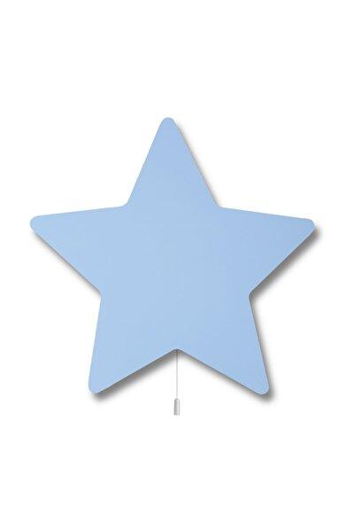 Ahşap Yıldız Aydınlatma Mavi