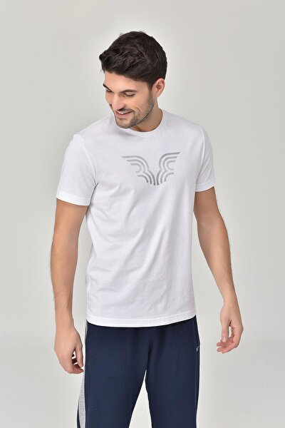 Beyaz Erkek T-shirt  GS-8814