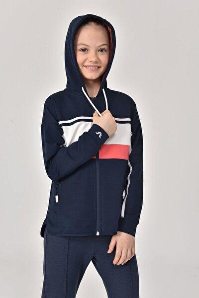 Lacivert Kız Çocuk Eşofman Üstü GS-8170