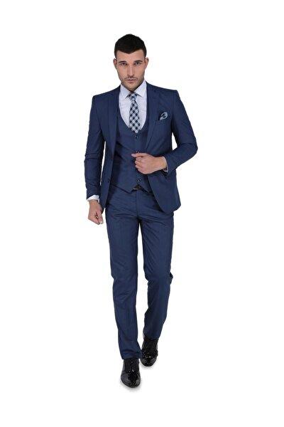 Erkek Luca Mono Yelekli Dar Kalıp Takım Elbise-3B4M0434D025