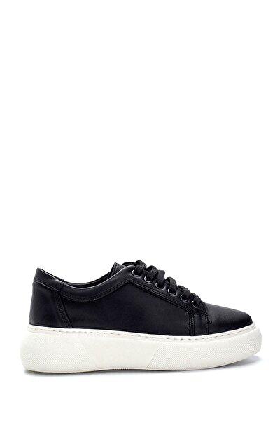 Kadın Siyah Yüksek Tabanlı Sneaker