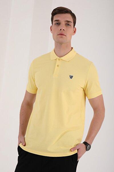 Klasik Polo Yaka Sarı Erkek Tshirt T08ER-87768
